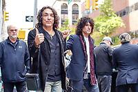 NOVA YORK, EUA, 29.10.2018 - CELEBRIDADES-EUA -  Paul Stanley e Tommy Thayler da banda Kiss são vistos na ilha de Manhattan na cidade de Nova York nesta segunda-feira, 29. (Foto: Vanessa Carvalho/Brazil Photo Press)