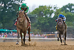 ELMONT, NY - JULY 08: Keen Ice #1, ridden by Jose Ortiz, wins the Suburban Stakes on Stars and Stripes Festival Day at Belmont Park on July 8, 2017 in Elmont, New York (Photo by Scott Serio/Eclipse Sportswire/Getty Images)