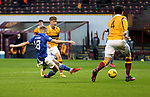 Motherwell v St Johnstone…28.11.20   Fir Park      BetFred Cup<br />Ali McCann's shot is saved by Aaron Chapman<br />Picture by Graeme Hart.<br />Copyright Perthshire Picture Agency<br />Tel: 01738 623350  Mobile: 07990 594431