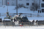 World Economic Forum (WEF) - Davos 2020 - Donald Trump. <br /> US President Donald Trump arrives by helicopter to Davos to attend at the Congress Centre the World Economic Forum (WEF) annual meeting in Davos, Switzerland on January 21, 2020.