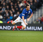 Flying Jig.. Lee McCulloch goes for a short flight