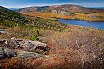 Autumn color over Eagle Lake in Acadia National Park, ME, USA