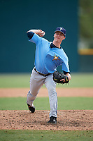 Tampa Bay Rays pitcher Drew Strotman (33) delivers a pitch during an Instructional League game against the Pittsburgh Pirates on October 3, 2017 at Pirate City in Bradenton, Florida.  (Mike Janes/Four Seam Images)