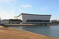 February 2nd 2020 TOKYO, Japan; Photo taken shows the Ariake Arena in Tokyo, Japan. This newly built venue will be used for the Tokyo Olympic volleyball games and Tokyo Paralympic wheelchair basketball games.