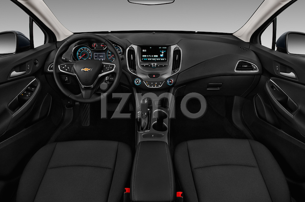 Stock photo of straight dashboard view of 2017 Chevrolet Cruze LT 5 Door Hatchback Dashboard