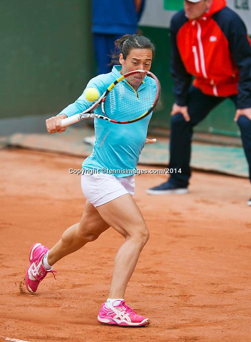 France, Paris, 28.05.2014. Tennis, French Open, Roland Garros, Francesca Schiavone (ITA)<br /> Photo:Tennisimages/Henk Koster