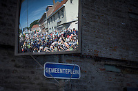 """busy Town Square (""""Gemeenteplein"""")<br /> <br /> 55th Vlaamse Druivenkoers 2015"""