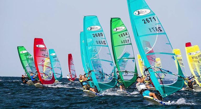 Ballymacormick Beach on the eastern side of Ballyholme Bay is the venue for the Ulster Windsurfing Championships