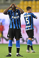 Romelu Lukaku of FC Internazionale reacts during the Serie A football match between Parma and FC Internazionale at stadio Ennio Tardini in Parma ( Italy ), June 28th, 2020. Play resumes behind closed doors following the outbreak of the coronavirus disease. <br /> Photo Andrea Staccioli / Insidefoto
