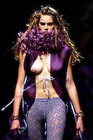 Roma 28/1/2004 <br /> Alta Moda Roma - Haute Couture - Fashion<br /> Dress collection of stylist Chiara Boni<br /> Foto Andrea Staccioli Insidefoto