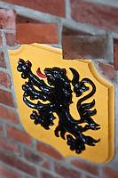 Europe/France/Nord-Pas-de-Calais/59/Nord/ Boeschepe: Briques et Lion des Flandres à l'Estaminet : De Vierpot