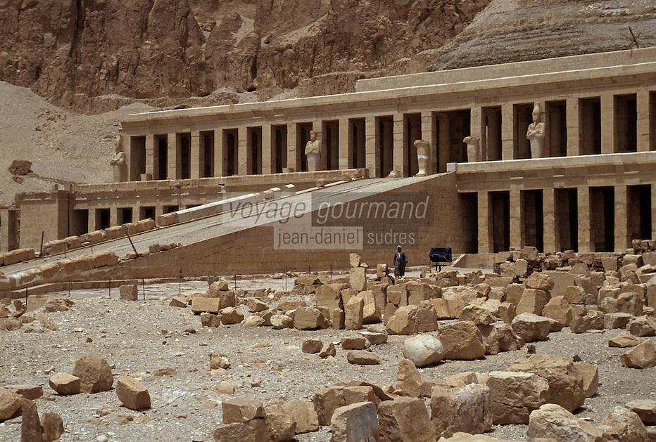 Afrique/Egypte/Louxor/Ancienne Thèbes: Temple de la Reine Hatshepsout à Deir El Bahari