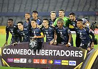 QUITO-ECUADOR, 11-03-2020: Jugadores de Independiente del Valle, posan para una foto, durante partido de la fase de grupos, grupo A, fecha 2, entre Independiente del Valle (ECU) y Atletico Junior (COL) por la Copa Conmebol Libertadores 2020, en el estadio Olimpico Atahualpa, de la ciudad Quito. / Players of Independiente del Valle, pose for a photo, during a match of the groups phase, group A, 2nd date, between Independiente del Valle (ECU) and Atletico Junior (COL) for the Conmebol Libertadores Cup 2020, at the Olimpico Atahualpa in Quito. / Photo: VizzorImage / Steven Silva / PressSouth / Cont.