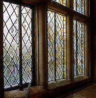 The curiously bulging leaded windows of the Long Gallery