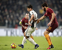 Calcio, Serie A: Juventus vs Roma. Torino, Juventus Stadium,17 dicembre 2016. <br /> Juventus' Sami Khedira, left, is challenged by Roma's Federico Fazio during the Italian Serie A football match between Juventus and Roma at Turin's Juventus Stadium, 17 December 2016.<br /> UPDATE IMAGES PRESS/Isabella Bonotto