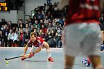 MANNHEIM, DEUTSCHLAND, FEBRUAR 01: Viertelfinale in der 1. Hockey Bundesliga der Herren, Hallensaison 2013/2014. Begegnung zwischen dem Mannheimer HC (blau) und RW Köln (rot) am 01. Februar, 2013 in der Irma-Röchling-Halle in Mannheim, Deutschland. Endstand 4-6. (4-1) (Photo by Dirk Markgraf / www.265-images.com) *** Local caption *** #11 Christoph Menke von RW Köln
