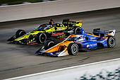 #9: Scott Dixon, Chip Ganassi Racing Honda and #18: Santino Ferrucci, Dale Coyne Racing with Vasser Sullivan Honda