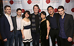 """Ari Evan, Matthew Cohen, Zhenni Li, John Noble, Mari Lee,  Henry Wang and Maximilian Morel attends the Opening Night Celebration for Ensemble for the Romantic Century Off-Broadway Premiere of<br />""""Maestro"""" at the West Bank Cafe on January 15, 2019 in New York City."""