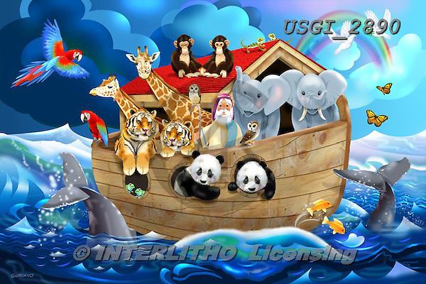 GIORDANO, CHILDREN, KINDER, NIÑOS, paintings+++++,USGI2890,#k# ,puzzle