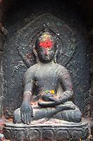 Statue of Buddha at Machhendranath Temple in Bungamati, Nepal