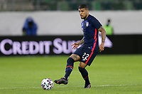 ST. GALLEN, SWITZERLAND - MAY 30: DeAndre Yedlin #22 of the United States passes off the ball during a game between Switzerland and USMNT at Kybunpark on May 30, 2021 in St. Gallen, Switzerland.