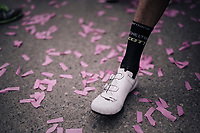 pink confetti<br /> <br /> stage 20: Susa - Cervinia (214km)<br /> 101th Giro d'Italia 2018