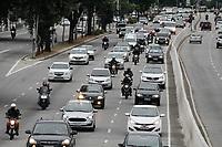 15.05.2020 - Trânsito na av Prestes Maia em SP