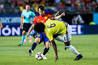 David Jimenez Silva of Spain competes for the ball with Carlos Sanchez of Colombia during the friendly match between Spain and Colombia at Nueva Condomina Stadium in Murcia, jun 07, 2017. Spain. (ALTERPHOTOS/Rodrigo Jimenez) (NortePhoto.com) (NortePhoto.com)