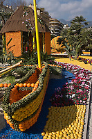 Europe/France/06/Alpes-Maritimes/Menton: Fête du citron dans les jardins Biovès le long de l'avenue de Verdun