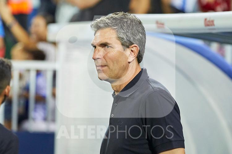 Leganes' coach Mauricio Pellegrino during La Liga match. August 24, 2018. (ALTERPHOTOS/A. Perez Meca)