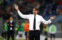 Calcio, Serie A: Roma, stadio Olimpico, 22 ottobre 2017.<br /> Lazio's coach Simone Inzaghi reacts during the Italian Serie A football match between Lazio and Cagliari at Rome's Olympic stadium, October 22, 2017.<br /> UPDATE IMAGES PRESS/Isabella Bonotto