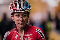 Christine Majerus' (LUX/Boels-Dolmans) post-race face<br /> <br /> Women's race<br /> Superprestige Asper-Gavere 2018 (BEL)