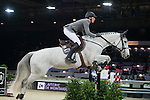 Henrik von Eckermann on Solitaer 41 competes during the Table A with Jump-off 145 - Airbus Trophy at the Longines Masters of Hong Kong on 20 February 2016 at the Asia World Expo in Hong Kong, China. Photo by Li Man Yuen / Power Sport Images