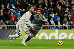 Real Madrid's Sergio Ramos and Real Sociedad's Hector Moreno during La Liga match between Real Madrid and Real Sociedad at Santiago Bernabeu Stadium in Madrid, Spain. January 06, 2019. (ALTERPHOTOS/A. Perez Meca)<br />  (ALTERPHOTOS/A. Perez Meca)