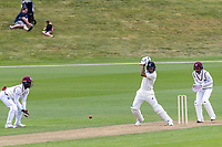 20th November 2020; John Davies Oval, Queenstown, Otago, South Island of New Zealand. NZ A's Rachin Ravindra plays back along the wicket defensively