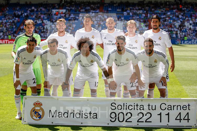 Real Madrid´s initial team during 2013-14 La Liga match at Santiago Bernabeu stadium in Madrid, Spain. May 17, 2014. (ALTERPHOTOS/Victor Blanco)