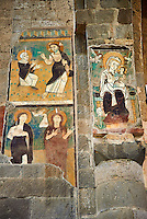 14th century Madonna with Child fresco in the 8th century Romanesque Basilica church of St Peters, Tuscania, Lazio, Italy
