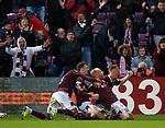 26.01.2020 Hearts v Rangers: Liam Boyce celebrates the winner