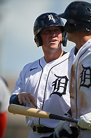 Detroit Tigers Spencer Torkelson (19) during a Florida Instructional League intrasquad game on October 24, 2020 at Joker Marchant Stadium in Lakeland, Florida.  (Mike Janes/Four Seam Images)