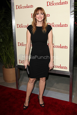Judy Greer at the Los Angeles Premiere of 'The Descendants' at AMPAS Samuel Goldwyn Theater on November 15, 2011 in Beverly Hills, California © mpi21/MediaPunch Inc.