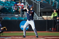 AlexSteinbach (34) of the Illinois Fighting Illini at bat against the Coastal Carolina Chanticleers at Springs Brooks Stadium on February 22, 2020 in Conway, South Carolina. The Fighting Illini defeated the Chanticleers 5-2. (Brian Westerholt/Four Seam Images)
