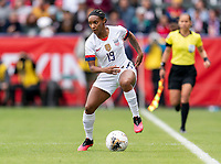 CARSON, CA - FEBRUARY 9: Crystal Dunn #19 of the United States dribbles during a game between Canada and USWNT at Dignity Health Sports Park on February 9, 2020 in Carson, California.