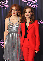 NEW YORK, NY - SEPTEMBER 14: Jessica Chastain and Isabelle Huppert at the New York Premiere of The Eyes Of Tammy Faye at the SVA Theatre in New York City on September 14, 2021. Credit: Erik Nielsen/MediaPunch