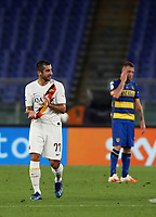 Roma s Henrikh Mkhitaryan reacts during the Italian Serie A football match between Roma and Parma at Rome's Olympic stadium, July 8, 2020.<br /> UPDATE IMAGES PRESS/Isabella Bonotto
