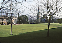 Cambridge: Downing College--East and South Ranges. Photo '90.
