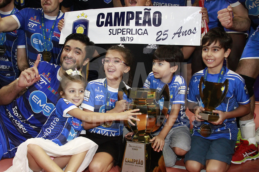 Suzano SP 11-05-2019 - Taubate é campeão da super liga masculina de voley 2019, bateu o SESI SP por 3 sets à 1 neste sabado (11) na Arena Suzano em SP - Fernando Nascimento