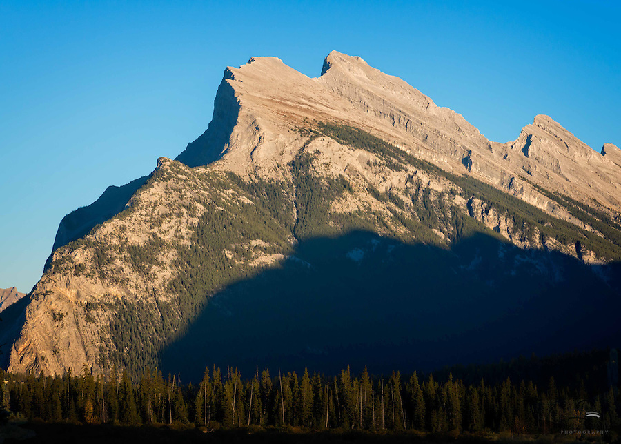 Evening Light on Mount Rundle from Vermillion Lakes, Banff National Park, Canada