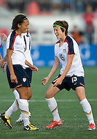 25 May 09:  USA National midfielder Megan Rapinoe #15 celebrates a goal in an International Friendly soccer game between the US Women's Team and the Canadian Women's Team at BMO Field in Toronto. The US Women's Team won 4-0.