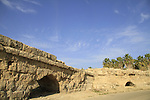 Israel, Sharon region, the Roman aqueduct to Caesarea in Beit Hanania built in the period of the emperor Hadrian by the members of the 10th Legion