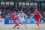 Aston Villa (in white) vs Bayer Leverkusen (in red), during their Main Tournament match, part of the HKFC Citi Soccer Sevens 2017 on 27 May 2017 at the Hong Kong Football Club, Hong Kong, China. Photo by Chris Wong / Power Sport Images